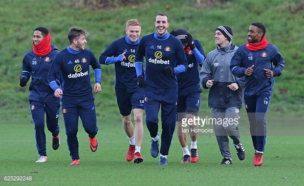 Sunderland working hard in training. (Picture: Getty Images)