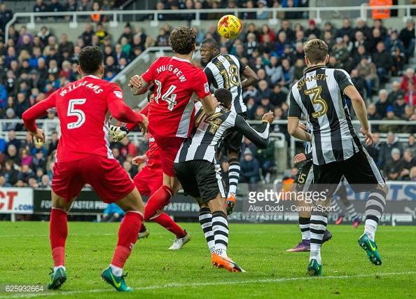 Charlie Mulgrew scores for Blackburn which started off Newcastle's run of bad form. Photo: Alex Dodd/ Camera Sport/ Getty