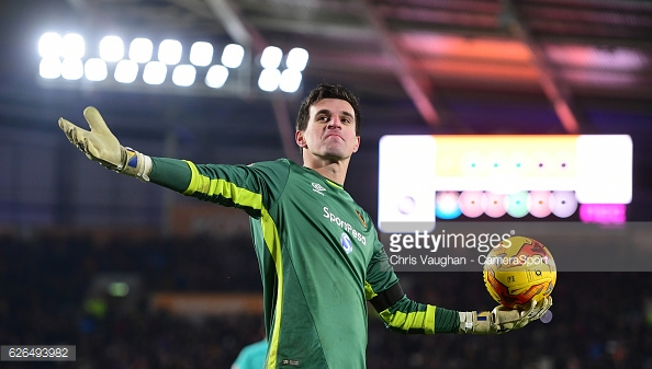 Jakupovic celebrates his part in history (photo: Getty Images)