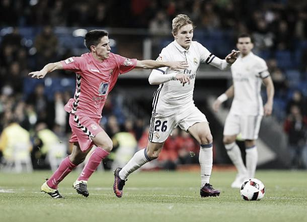 Odegaard atuando pelo Real Madrid na Copa do Rei | Foto: Angel Martinez/Getty Images