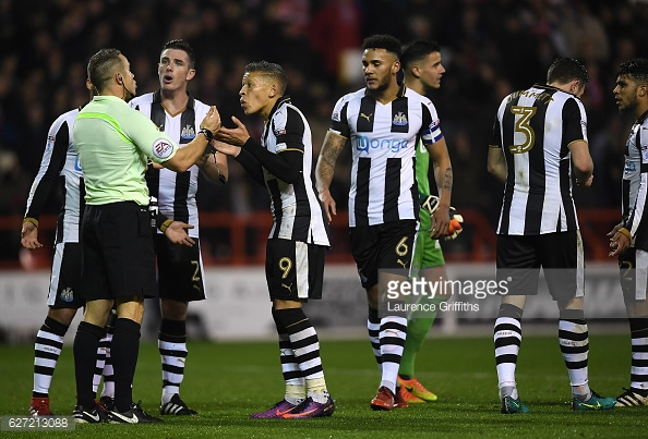 Newcastle were left fuming with decisions in the previous meeting. (picture: Getty Images / Laurence Griffiths)