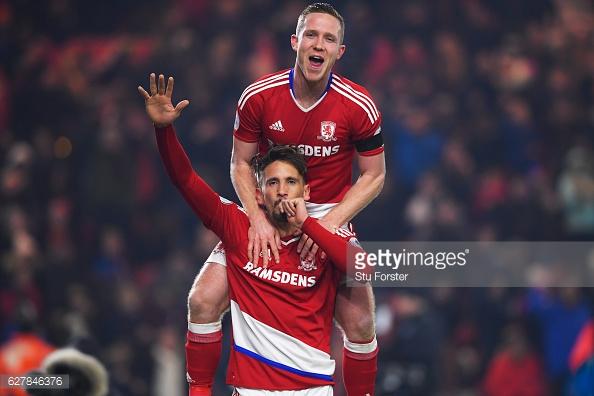 Ramirez celebrates his goal. Photo: Stu Forster