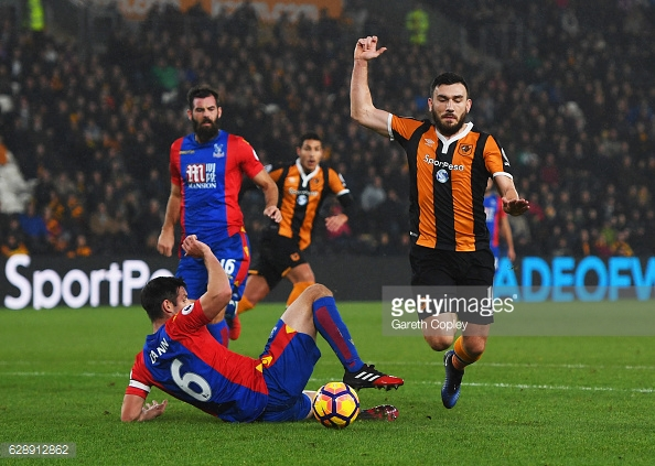 Snograss goes down for the questionable penalty (photo: Getty Images)