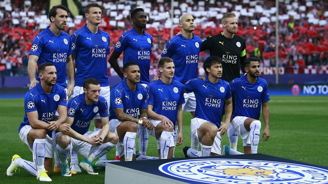 El Leicester ante el Atlético en UCL/ Fuente: UEFA
