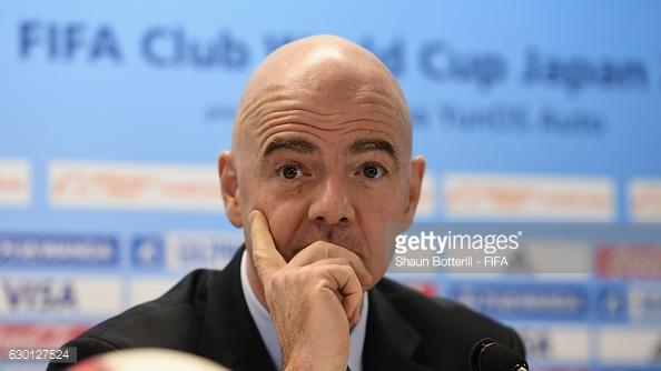 Infantino assumiu a Presidência da FIFA em Fevereiro