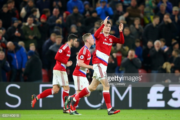 De roon celebrates his goal. Photo: Alex Livesey/Getty