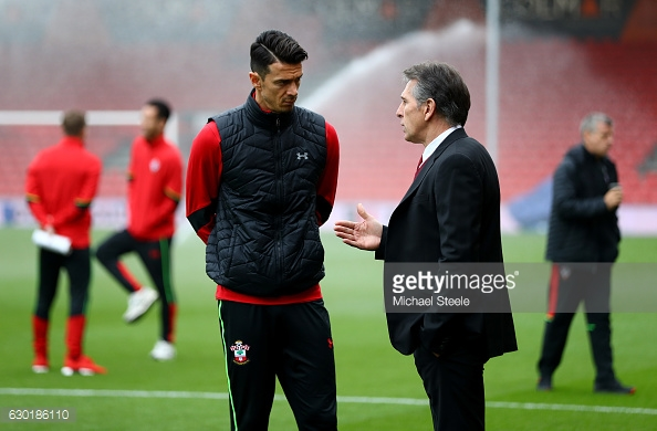 Awkward situation for the gaffer. Source:GettyImages)