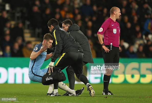 John Stones hobbled off after just 18 minutes (photo: Getty Images)