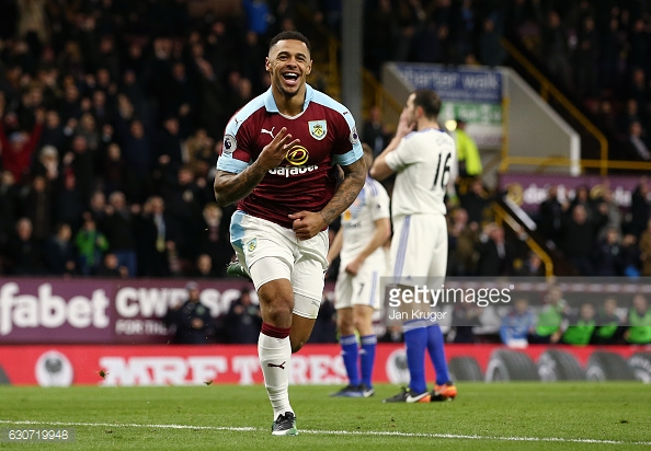 Andre Gray celebrates his third (photo: Getty Images)