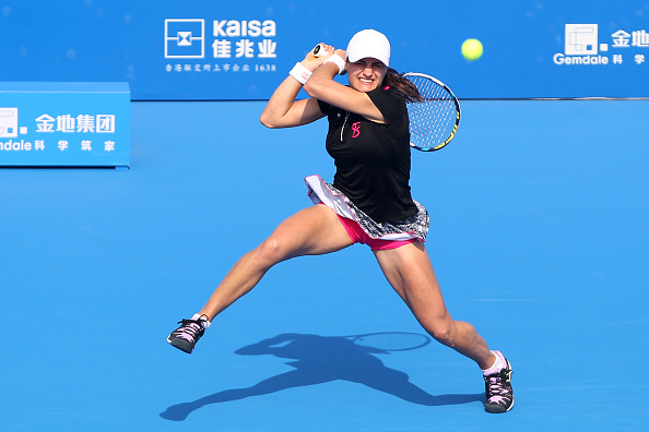 Monica Niculescu exited in the second round of this year's competition | Photo: Zhong Zhi/Getty Images