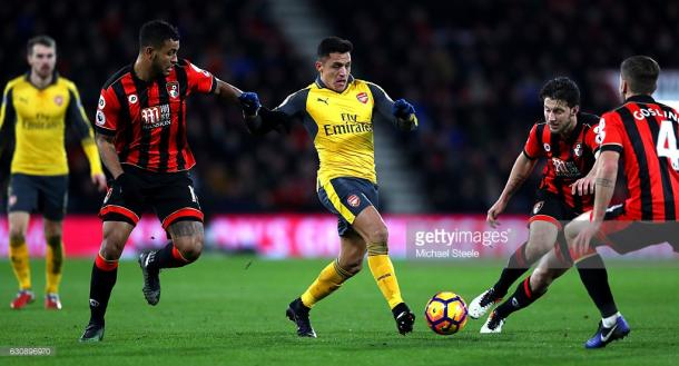Sanchez toyed with Bournemouth. | Photo: Getty Images/ Warren Little
