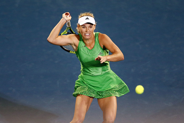 Caroline Wozniacki in action during the ASB Classic in Auckland. Photo: Getty Images / Anthony Au-Yeung