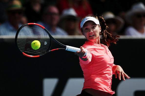 Ana Konjuh hitting a forehand during her ASB Classic final in Auckland. Photo: Getty Images/Anthony Au-Yeung