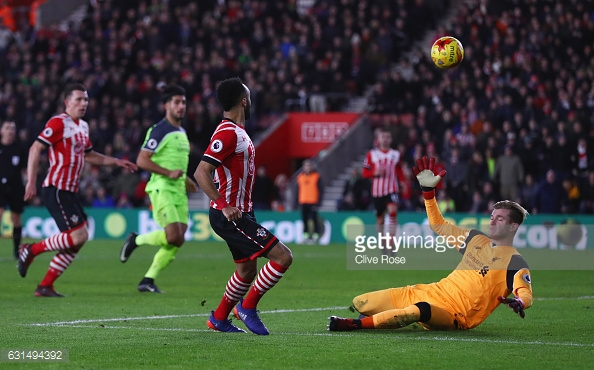 Redmond has one cleared of the line. (Source:GettyImages)