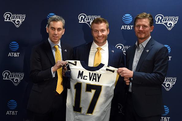 Apresentado no dia 13 de janeiro, McVay se tornou o head coach mais novo da história da NFL   Foto: Lisa Blumenfeld/Getty