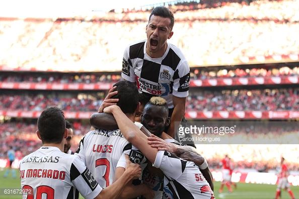 O Boavista esteve a ganhar por 3-0 até ao fecho da primeira metade