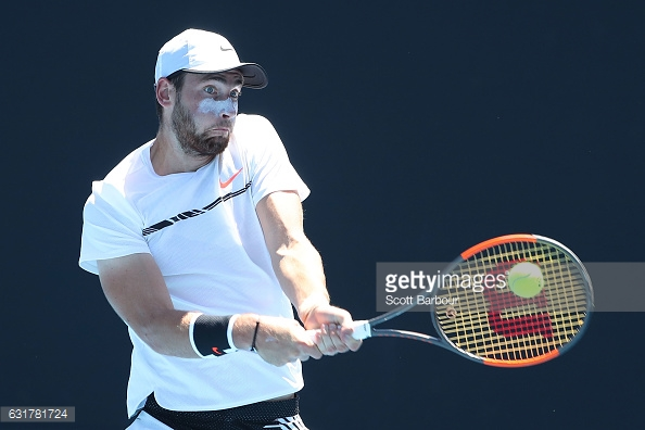 Halys plays a backhand in Melbourne/Photo: Scott Barbour/Getty images