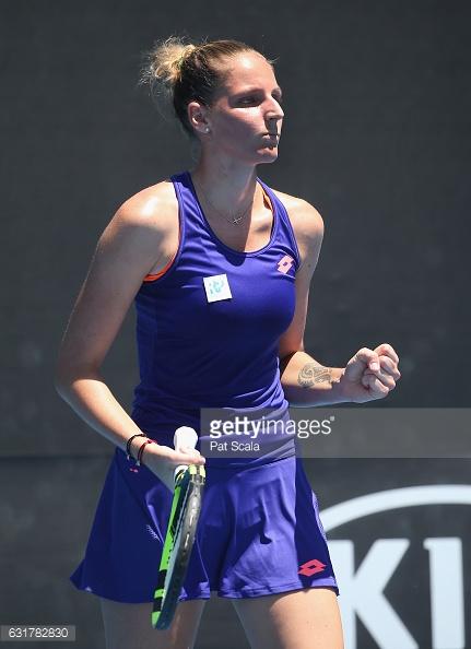 Pliskova celebrates her victory in Melbourne/Photo: Pat Scala/Getty Images