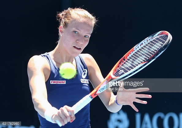 Goulbic plays a backhand in Melbourne/Photo: Pat Scala/Getty Images