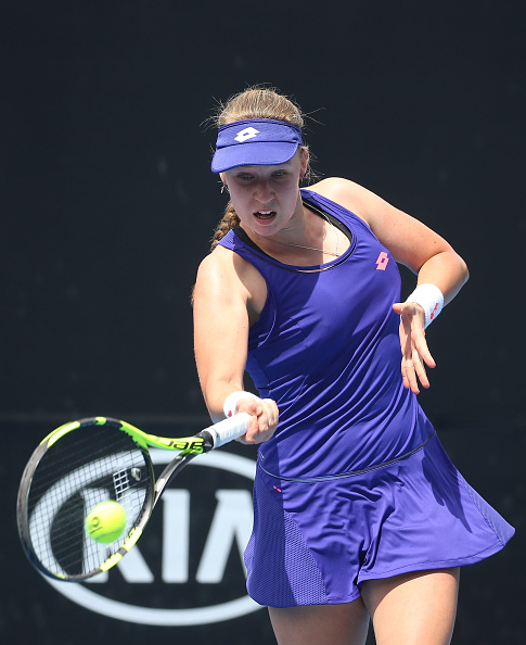 Blinkova takes the first set in impressive style | Photo: Pat Scala/Getty Images