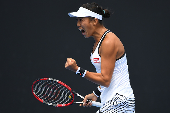 Zhang roars her way into the third set | Photo: Quinn Rooney/Getty Images