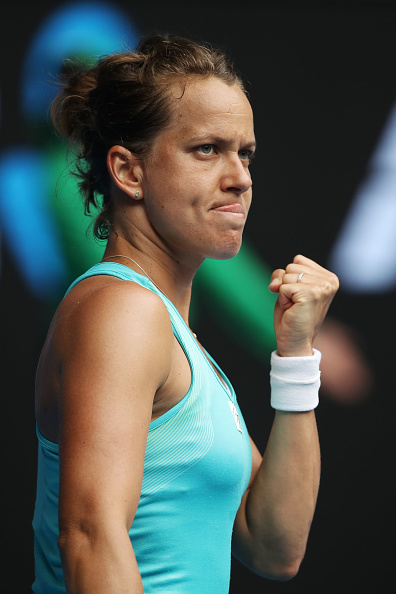 Strycova in command takes the first set   Photo: Mark Kolbe/Getty Images