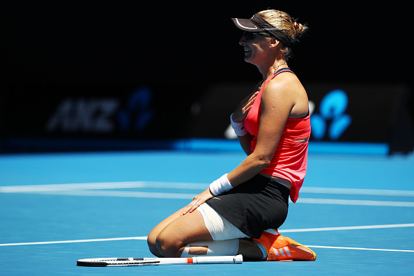Mirjana Lucic-Baroni during the 2017 Australian Open. Photo: Getty Images/Clive Brunskill