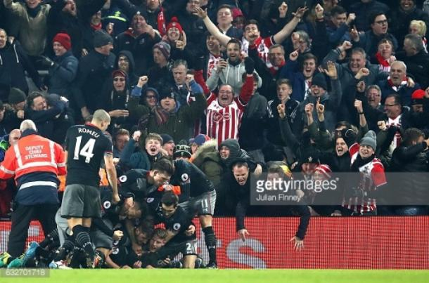 Southampton will need Romeu on top form for a repeat of these celebrations at Wembley. Photo: Getty.