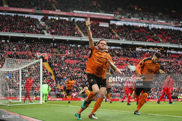 Stearman scored against Liverpool in a 2-1 Wolves win in the FA Cup. (picture: Getty Images / Matthew Ashton - AMA)