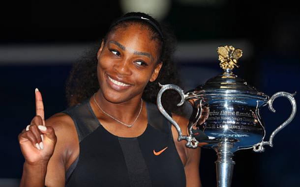 Williams won her 23rd Grand Slam singles title in Melbourne last year, but it is not known whether she will be back to defend her title (Getty/Scott Barbour)