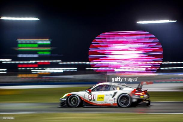 Porsche's new 911 RSR showed promise at Daytona. | Photo: Getty Images/Brian Cleary