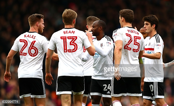 Aluko celebrates Fulham's first (photo: Getty Images)