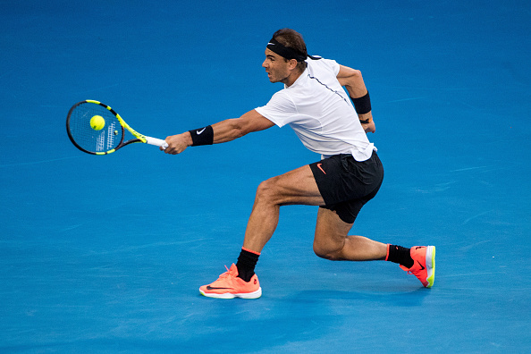 Rafael Nadal in action during the Australian Open. Photo: Getty Images / Icon Sportswire