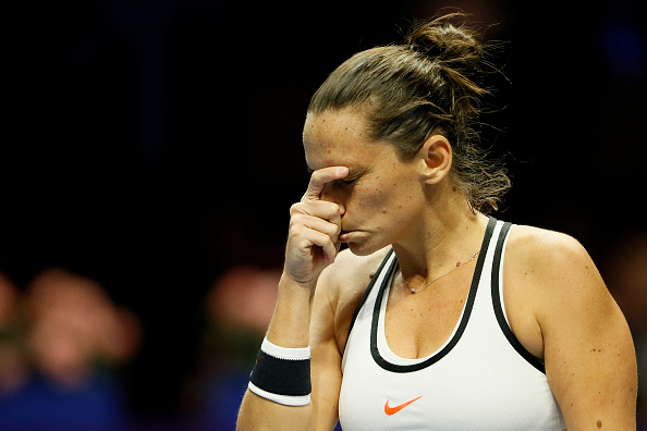 Vinci goes down a double break | Photo: Mike Kireev/NurPhotos via Getty Images