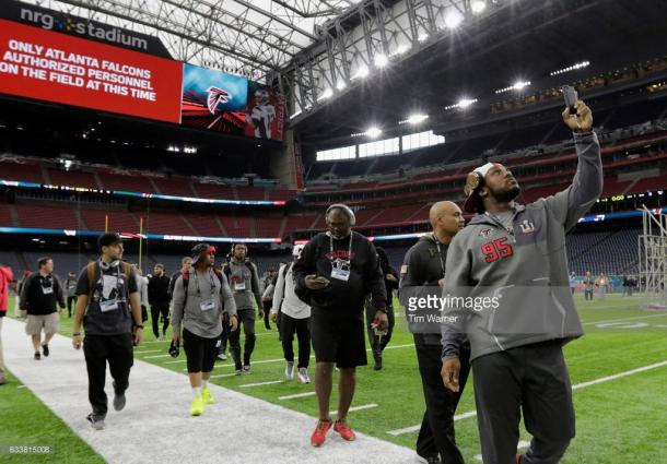 Falcons players on the Stadium of Super Bowl LI