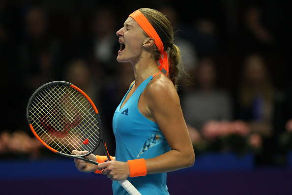 Kristina Mladenovic experienced an up-and-down match, but eventually took the thrilling win after a marathon two-hour, 39-minute battle | Photo: Mike Khireev/NurPhotos via Getty Images