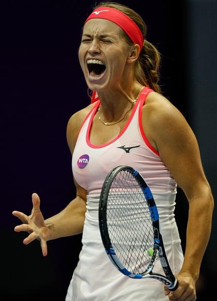 Putintseva roars back to snatch the second set | Photo: Mike Khireev/NurPhotos via Getty Images