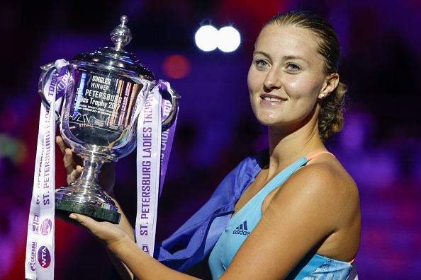 Kristina Mladenovic won her first WTA title at St. Petersburg. Photo: Getty Images/NurPhoto