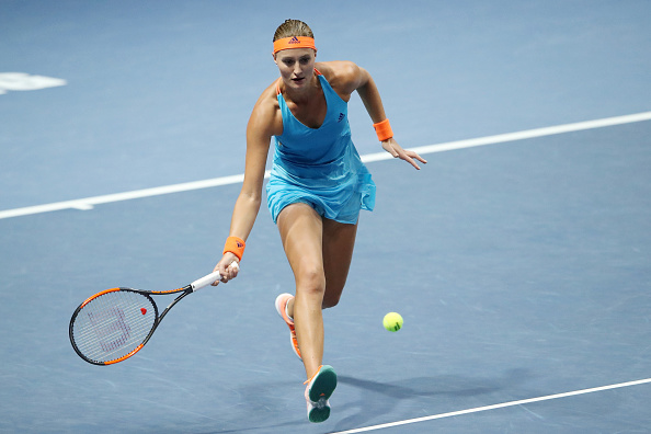Kristina Mladenovic's net game was impressive today; and it was pivotal in helping her claim the win | Photo: Kommersant Photo via Getty Images