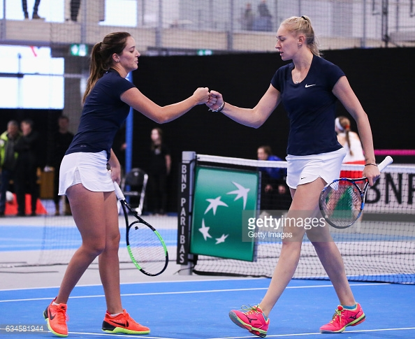 Jocelyn Rae playing doubles alongside Laura Robson. (picture: Getty Images)