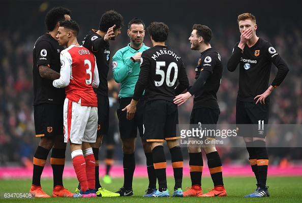 Markovic appealed for a red card against Gibbs (photo: Getty Images)