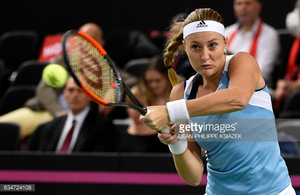Mladenovic was on top all match long, playing with confidence in sealing a fine victory/Photo: Jean-Philippe Ksiazek/AFP/Getty Images