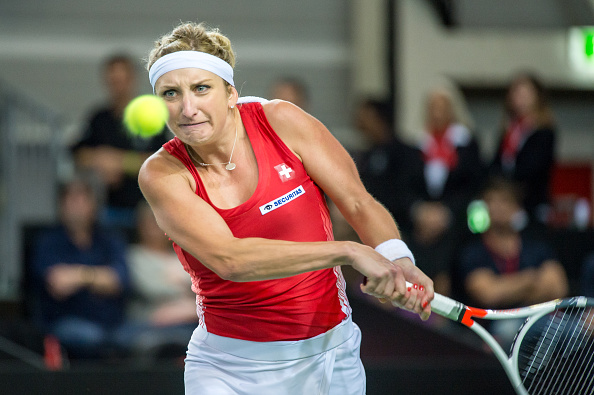 Bacsinszky edges the first set | Photo: Robert Hradil/Icon Sportswire via Getty Images