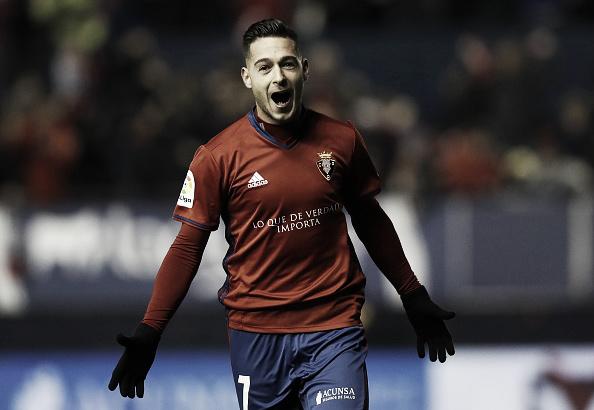Sergio León comemora seu gol contra o Real Madrid   Foto: Getty Images