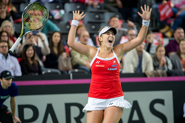 Bencic seals the win for Switzerland | Photo: Robert Hradil/Icon Sportswire via Getty Images