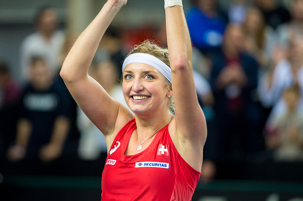 Bacsinszky gives Switzerland the lead | Photo: Robert Hradil/Icon Sportswire via Getty Images