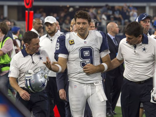 A hairline fracture of his left collarbone saw Romo's season cut short (Photo: Getty Images)