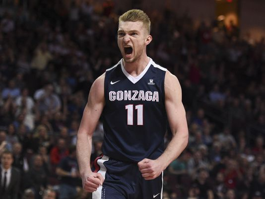 University of Gonzaga's Domantas Sabonis is quitely making a name for himself in this year's NBA Draft. Photo: Kyle Terada, USA TODAY Sports