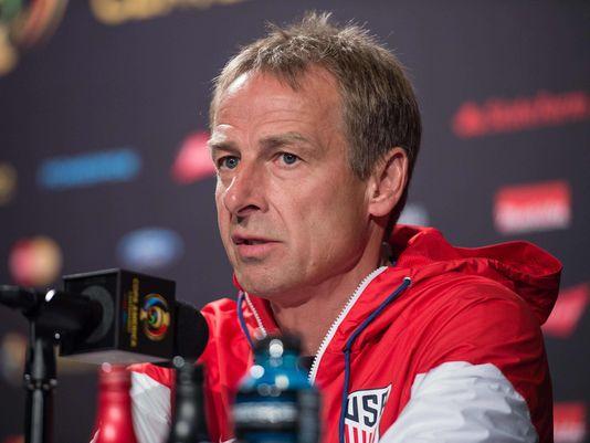 U.S. national team coach Jurgen Klinsmann speaks to the press. (Photo: Nicholas Kamm, AFP/Getty Images)