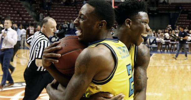 The Seahawks won their second straight CAA title in a close game against Charleston/Photo: Mic Smith/Associated Press
